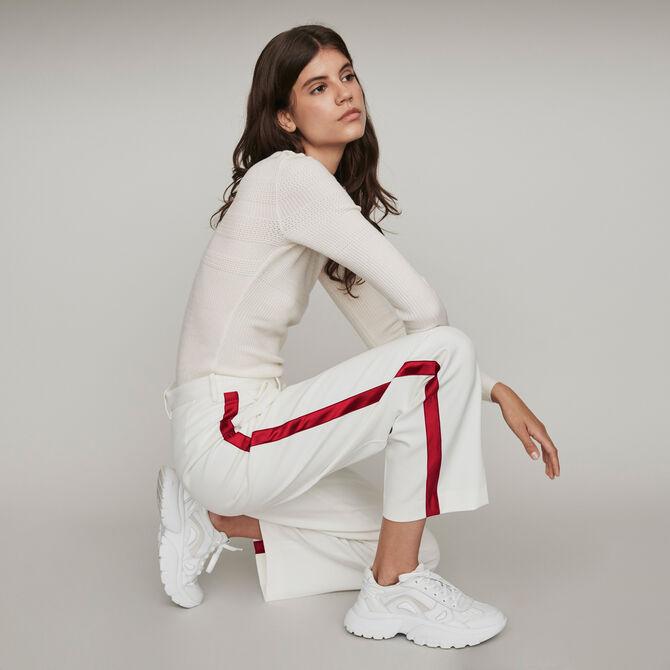 Pantalon large à bandes contrastées - Vente privée personnel 20 - MAJE