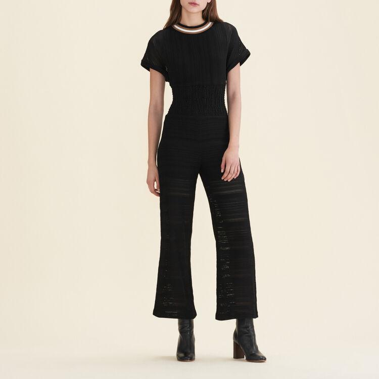 Combinaison pantalon en maille : Pantalons & Jeans couleur Black