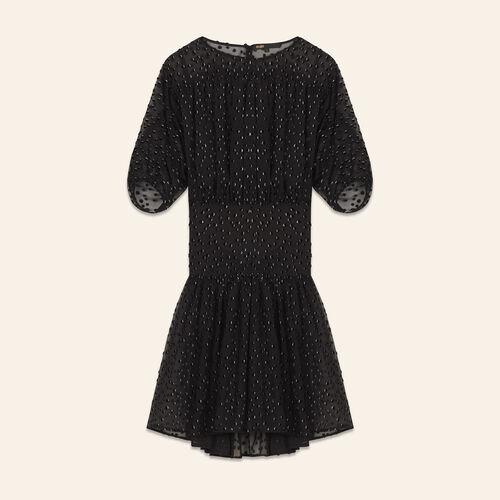 Robe floquée - Robes - MAJE