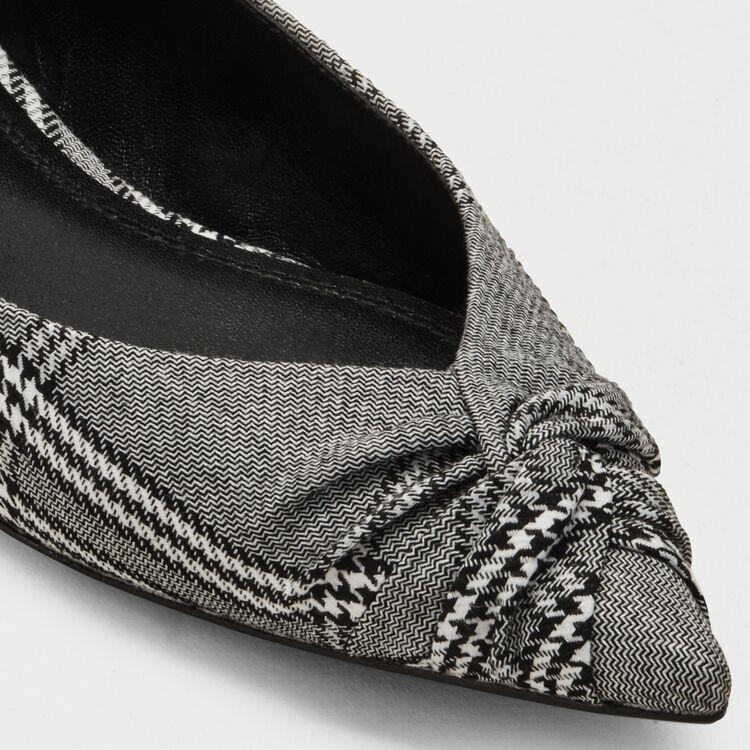 Ballerines drapées en prince de galles : Chaussures plates couleur CARREAUX