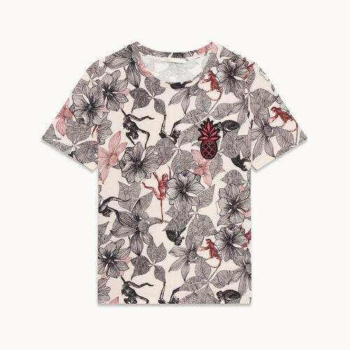 Tee-shirt imprimé - null - MAJE