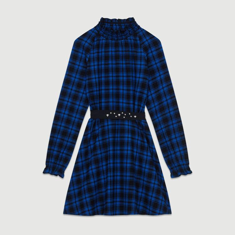 Robe courte à carreaux : Robes couleur CARREAUX