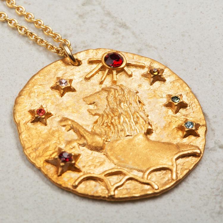 lion collier lion signe du zodiaque bijoux maje paris. Black Bedroom Furniture Sets. Home Design Ideas