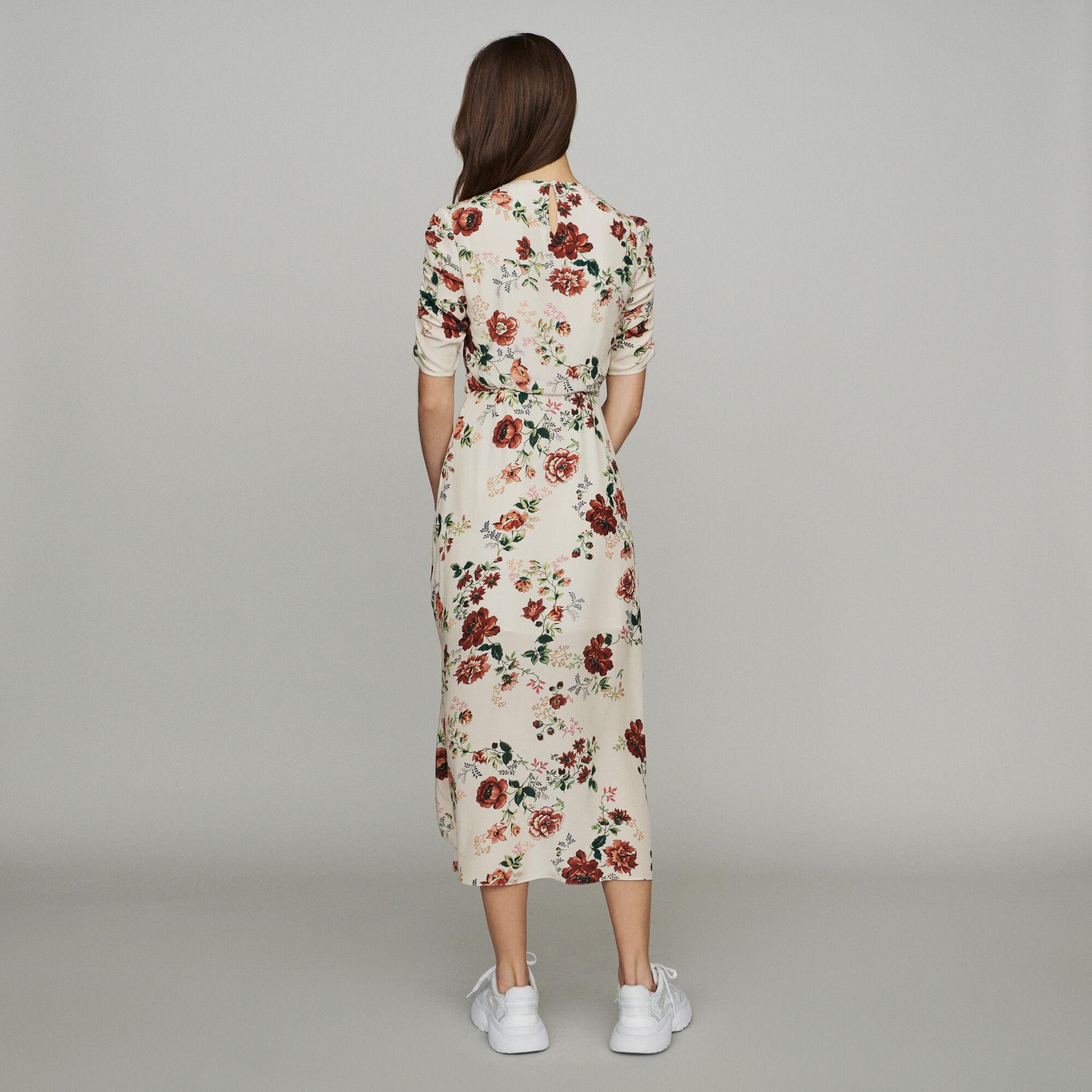 Imprimé Froncée À Floral Robes Longue Robe Rondi Maje Paris Uq6xRaIwU