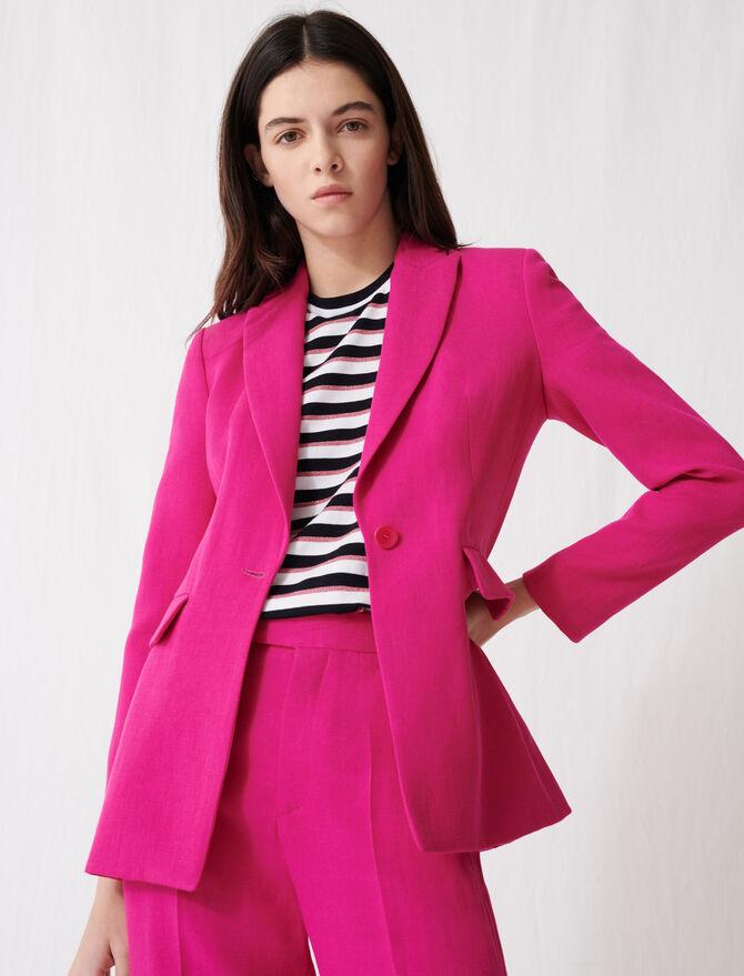 Veste de tailleur rose fuchsia -  - MAJE