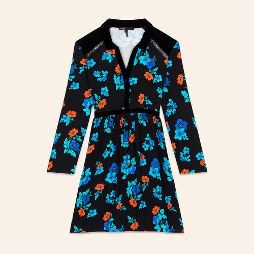 Robe plissée imprimée : Robes couleur IMPRIME