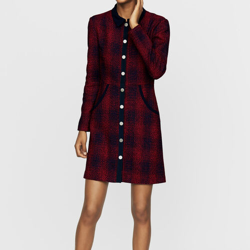 Robe-chemise en tweed : Robes couleur CARREAUX