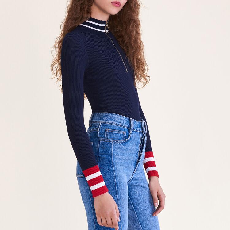 Pull en maille fine zippé - Maille - MAJE