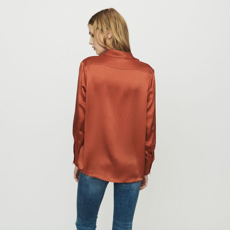 Chemise en soie : Tops & Chemises couleur Terracotta