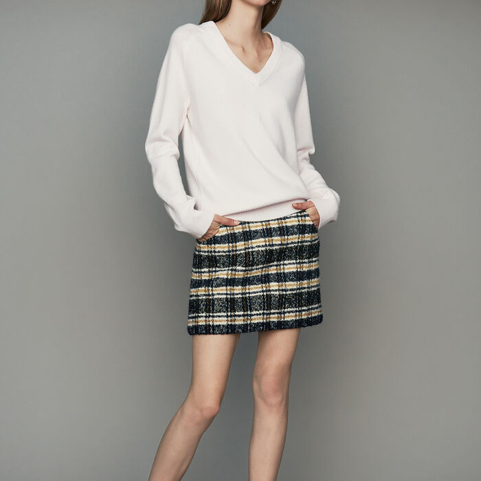 Pull oversize en laine et cachemire : Maille couleur ECRU