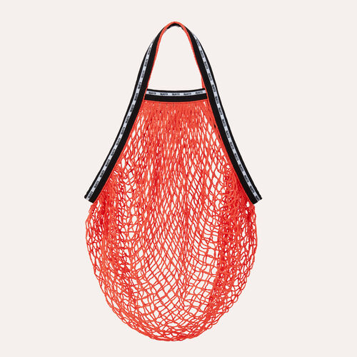 Sac filet coloré signé Maje : Cabas & M Walk couleur Orange