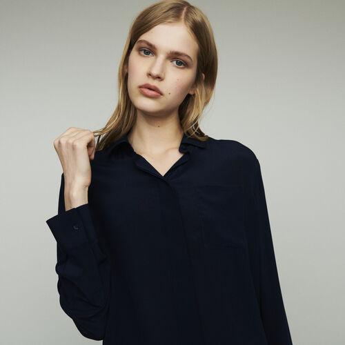 Chemise en soie : Chemises couleur Marine