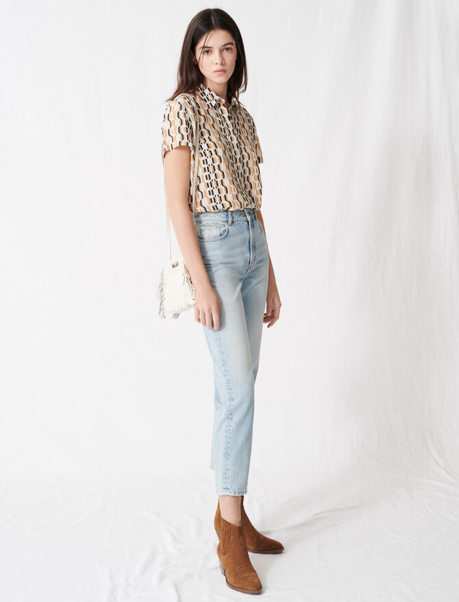"Jean taille haute ""mom"" - Pantalons & Jeans - MAJE"