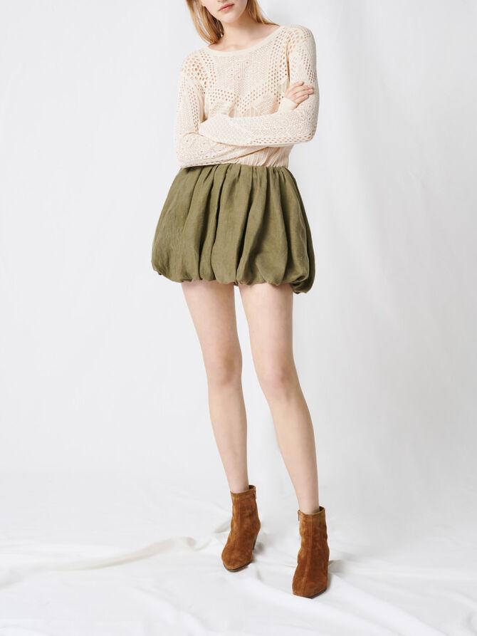 Jupe courte drapée - Jupes & Shorts - MAJE