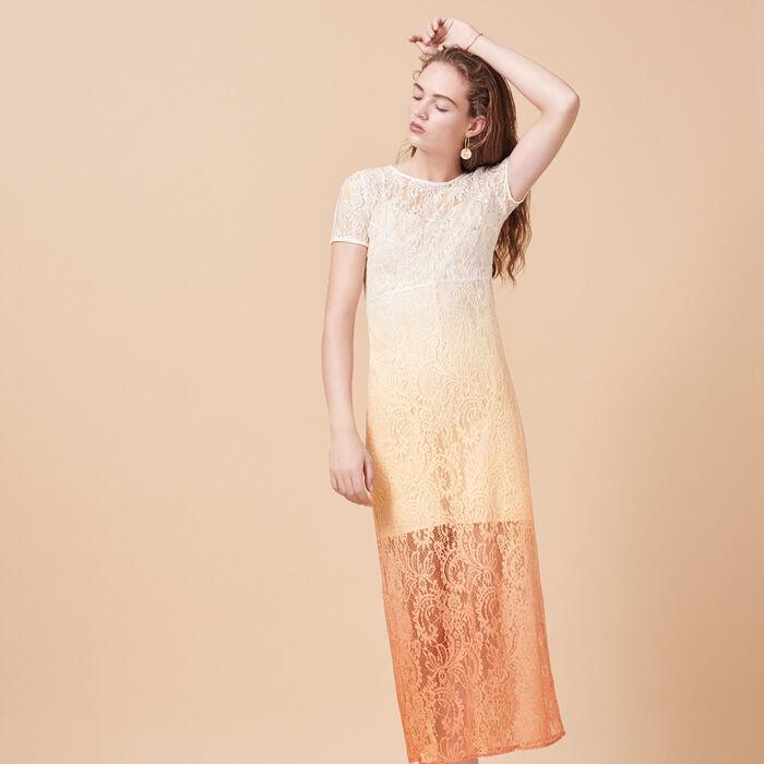 Robe longue en dentelle Tie and Dye - Tout Voir - MAJE