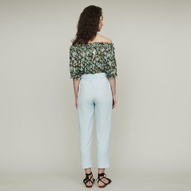 Pantalon à pinces : Pantalons couleur Bleu Ciel