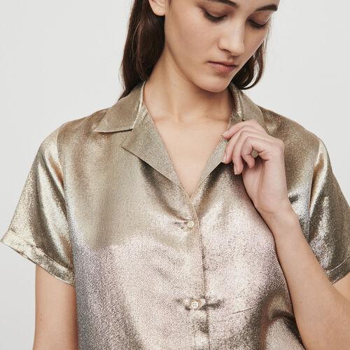 Chemise en soie mélangée : Chemises couleur Gold