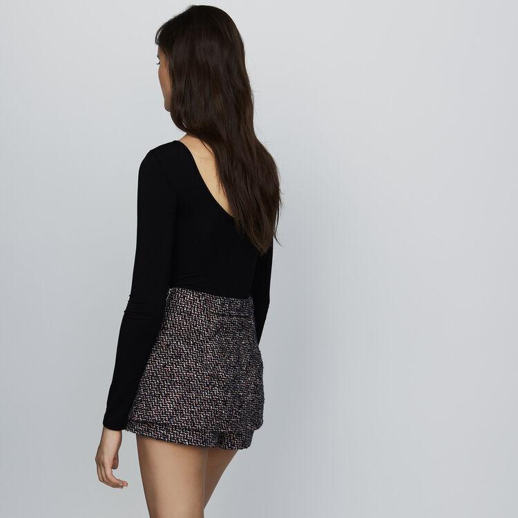 Short en tweed effet trompe-l'œil : Jupes & Shorts couleur Jacquard