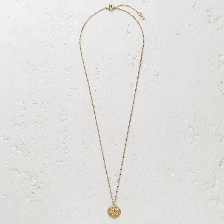 """Collier avec médaillon """"Ma vie"""" : Bijoux couleur OR"""