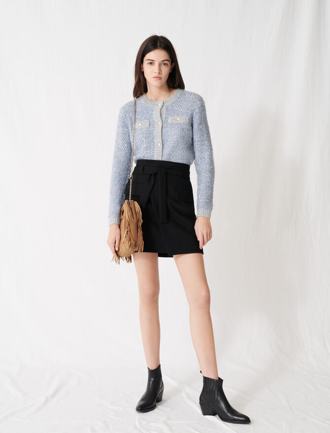 Jupe courte façon portefeuille - Jupes & Shorts - MAJE