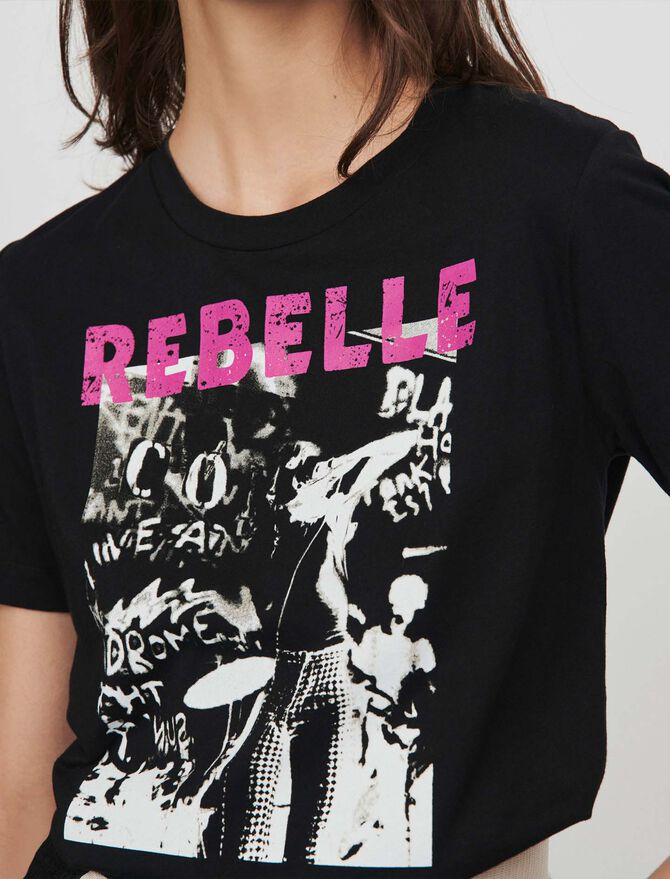 Tee-shirt sérigraphié - Presoldes-50_BE - MAJE