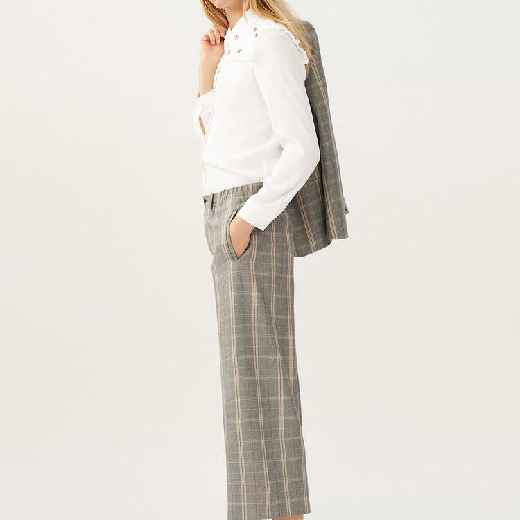 Pantalon large à carreaux - Pre-Collection - MAJE