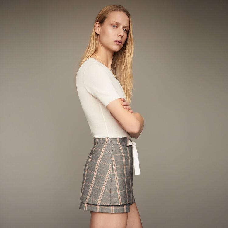 Ila short carreaux jupes shorts maje paris for Short a carreaux