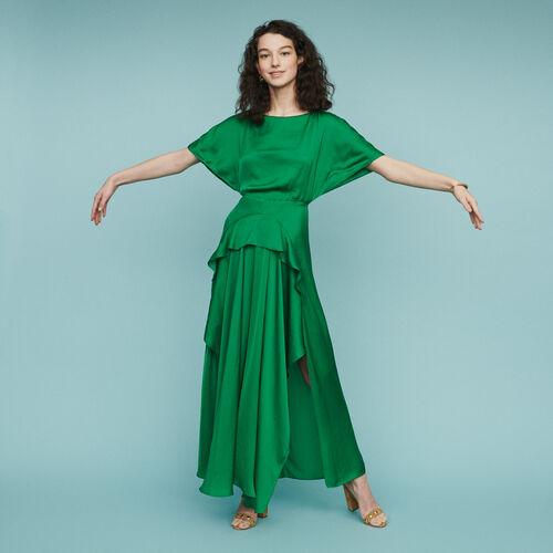 Robe longue asymétrique : Robes couleur Vert
