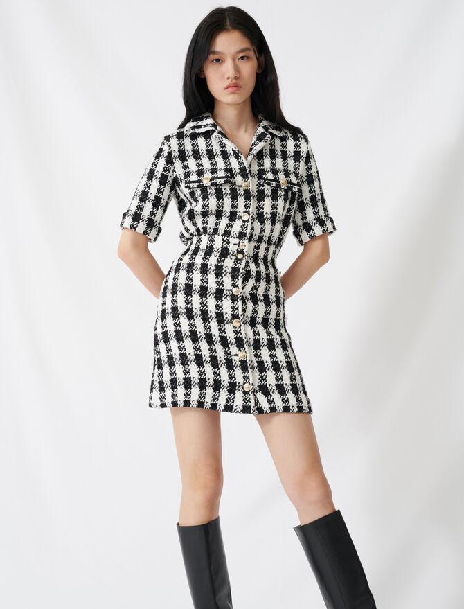 Robe courte façon tweed - Robes - MAJE