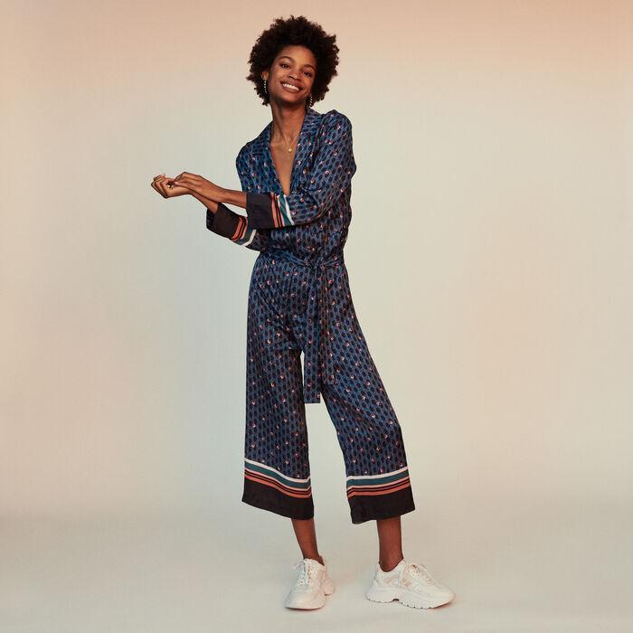 765c9862106672 PRESTONE - Combinaison-pantalon à imprimé - Pantalons & Jeans | Maje ...