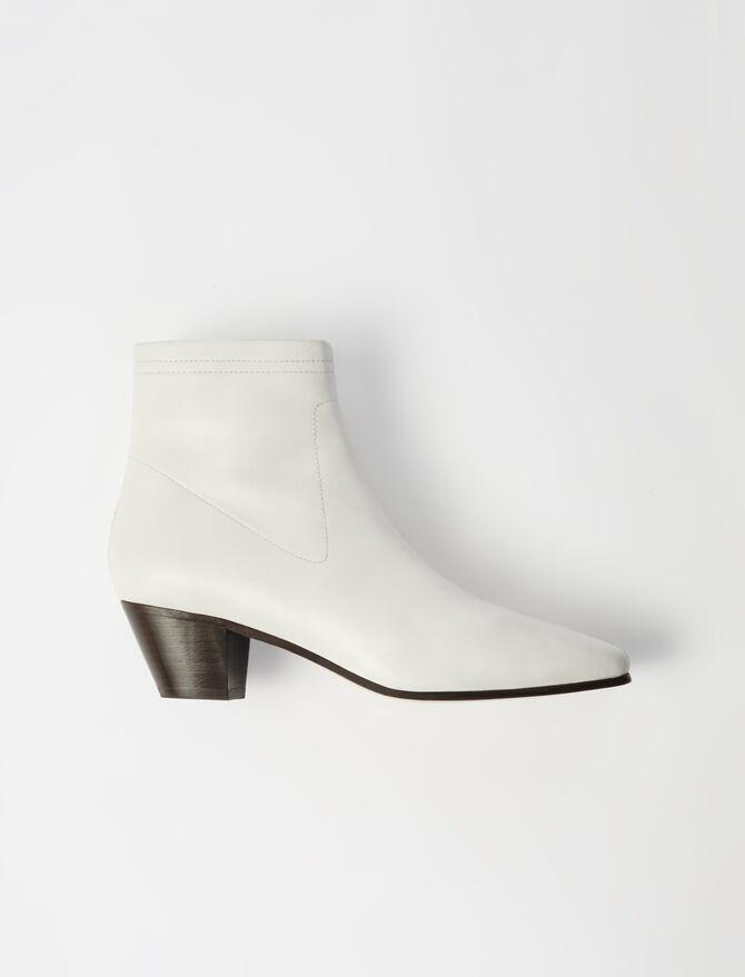 Bottines-chaussettes en cuir -  - MAJE