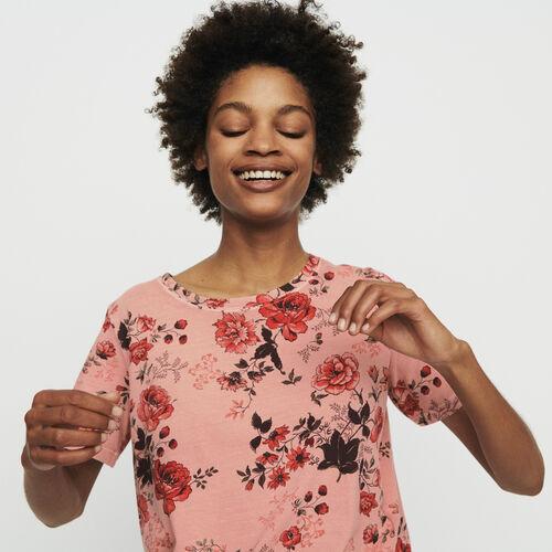 Tee-shirt à imprimé floral : T-Shirts couleur IMPRIME