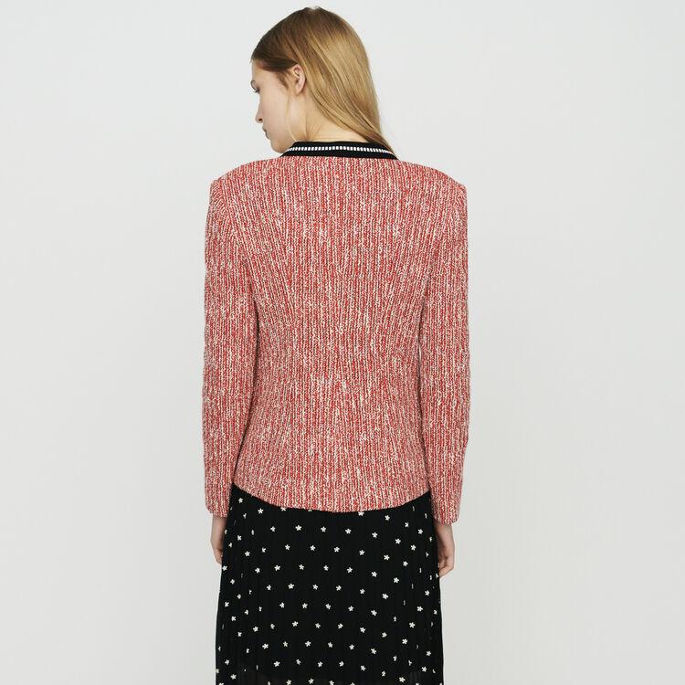 Veste façon tweed : Vestes couleur Rouge