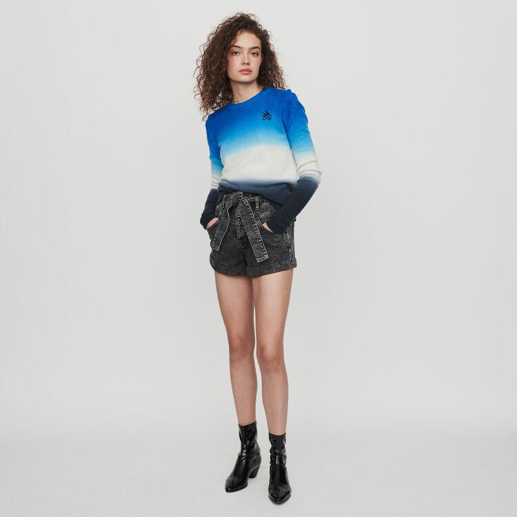 Pull en dégradé de couleurs : Pulls & Cardigans couleur BLEU AZUR