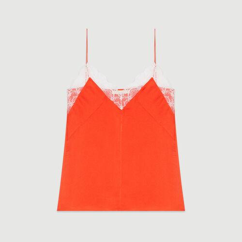 Caraco avec dentelle : Tops & Chemises couleur ORANGE