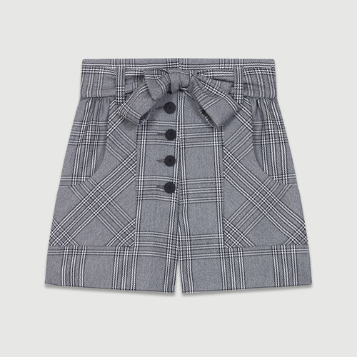 Short à imprimé prince-de-galles : Jupes & Shorts couleur CARREAUX