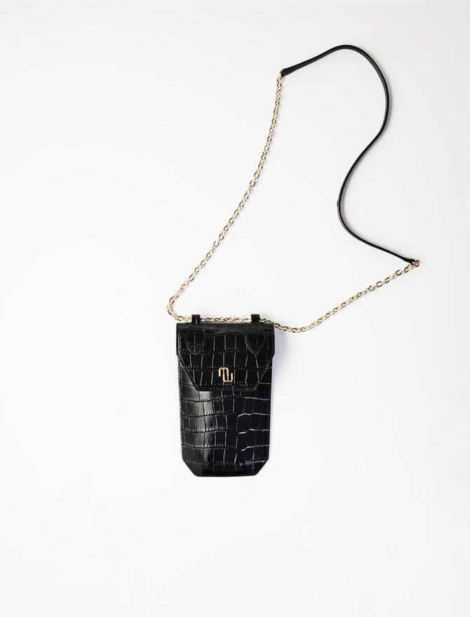 Porte téléphone façon croco - Sacs et petite maroquinerie - MAJE