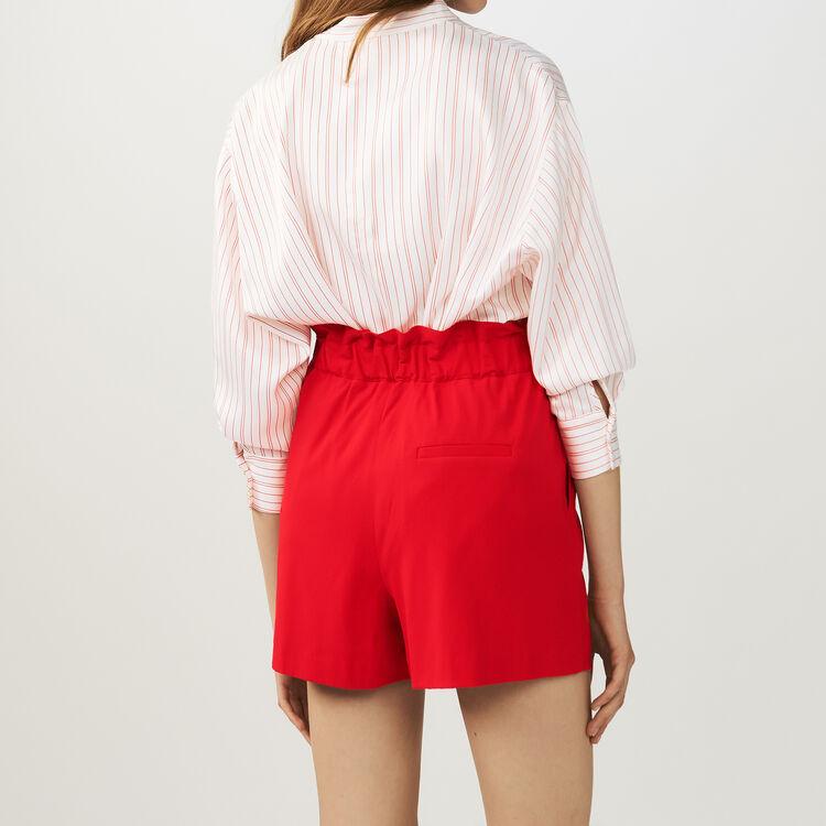 Short en crêpe avec ceinture : Jupes & Shorts couleur Rouge