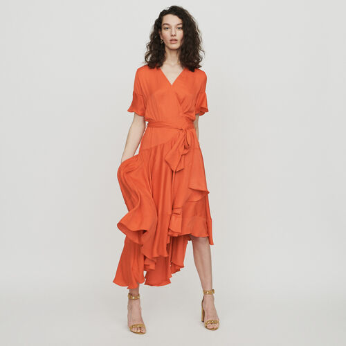 Robe longue à volants : Robes couleur Corail
