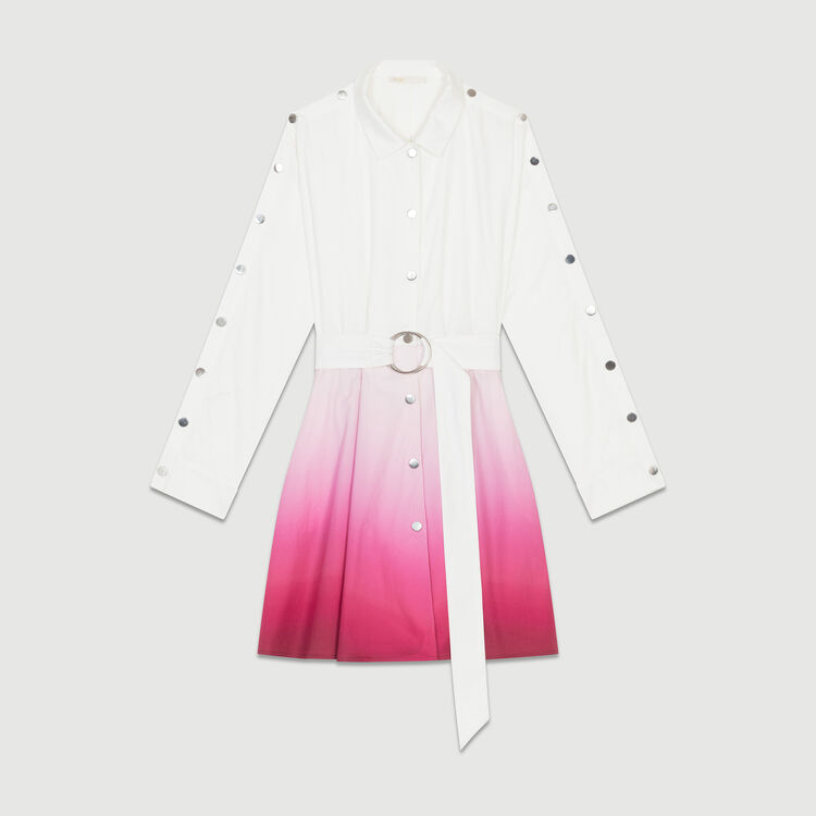 Robe-chemise tie and dye : Robes couleur Bicolore
