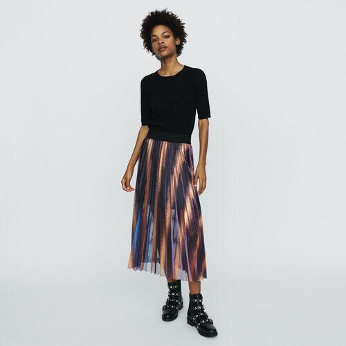 Jupe longue plissée et irisée : Jupes & Shorts couleur MULTICO