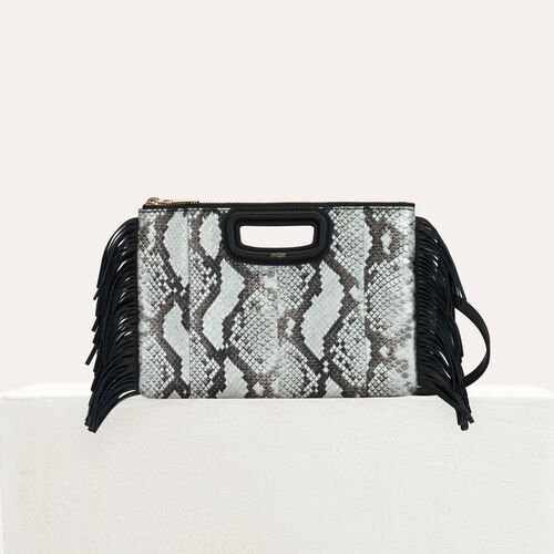 Pochette M Duo en cuir de serpent : M Duo couleur BLACK