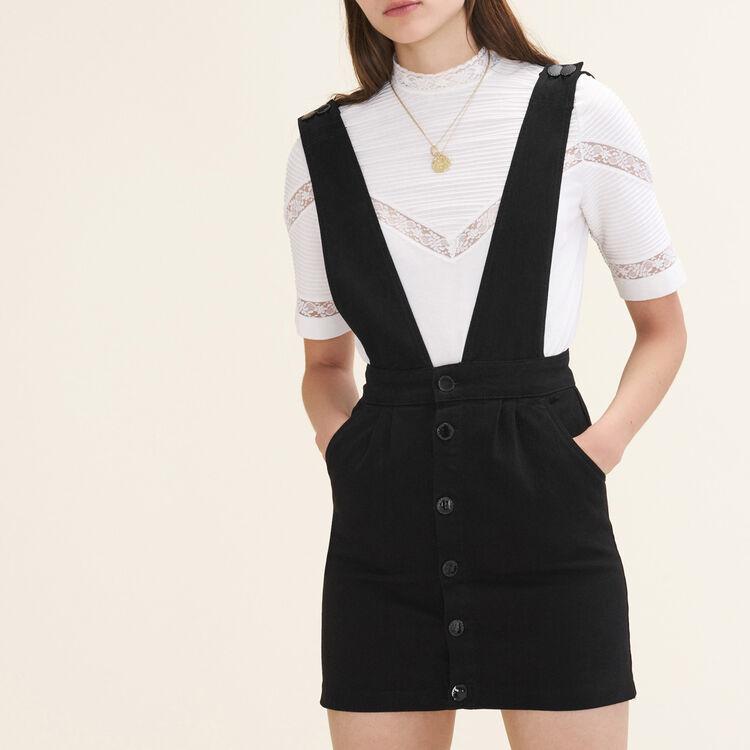 Robe en jean à bretelles : Robes couleur Black