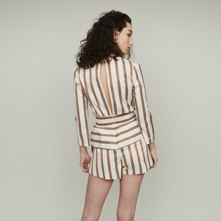 Combi-short à rayures : Jupes & Shorts couleur Rayure