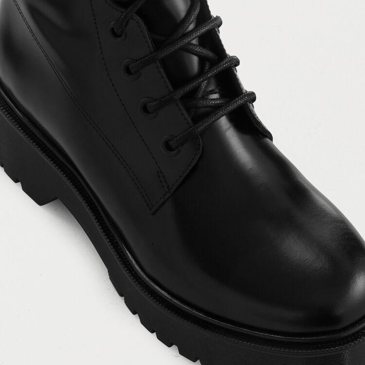 Bottines lacées et compensées : Bottines couleur Black