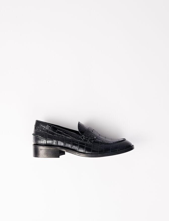 Mocassins en cuir de veau style croco - Toutes les chaussures - MAJE