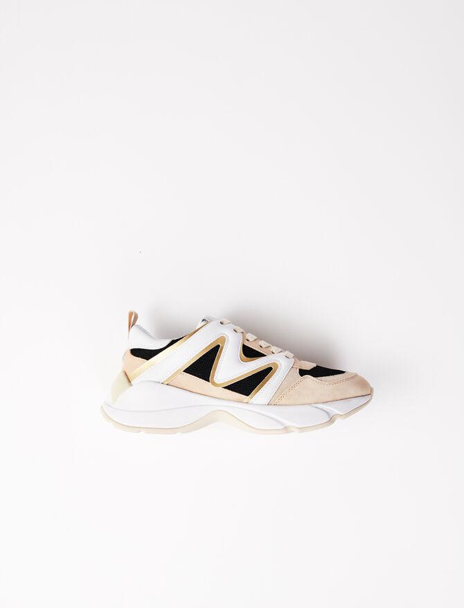 Sneakers W22 multi-matière - Toutes les chaussures - MAJE