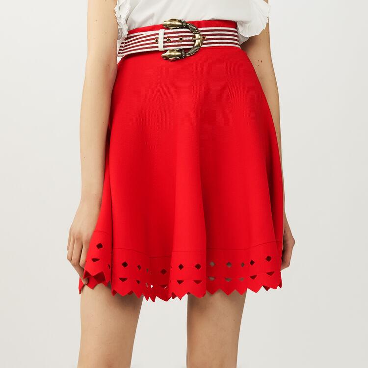 Jupe en maille ajourée : Jupes & Shorts couleur Black