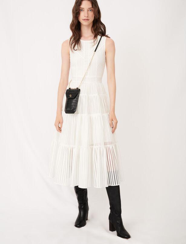 마쥬 원피스 MAJE Robe longue ceremonie details fantaisie,Blanc