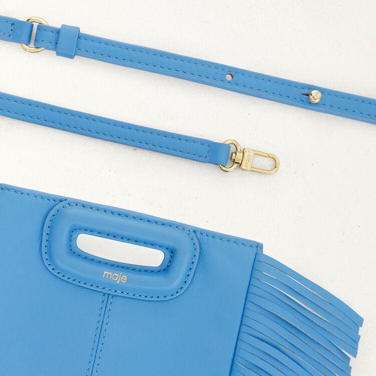Sac M Mini en cuir avec chaîne : M Mini couleur BLEU